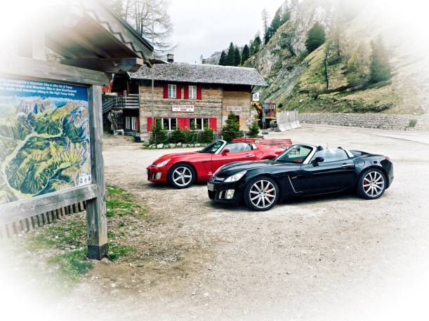Opel GT's in The Dolomites